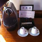 In-room Nespresso, for a fee