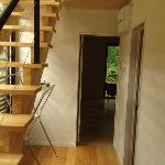First-floor stairs and hallway leading to double bedroom