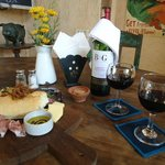 Rustic Cheese Platter w/ Cab. Sauv