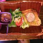 le pain perdu, foie gras a la trouspinette