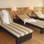 Resting area in wellness area
