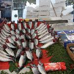 Fresh fish for sale - the gills are flipped out to show freshness