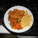 The chicken schnitzel was outstanding.