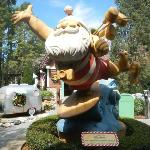 Santa greets you