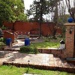 jardín del hotel Feregrino