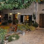 Abendstimmung vor dem Hotel