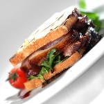 Hamburger de Canard Roti, Jus acidulé à la Noix
