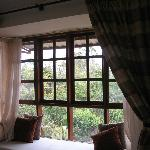 window seat in the room