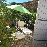 une terrasse privée