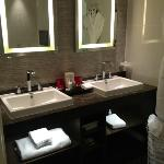 Bathroom in large suite in minsters building