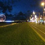Central Pier's big wheel at night.