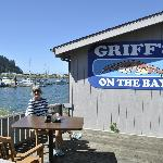 Lunch on the deck at Griff's on The Bay