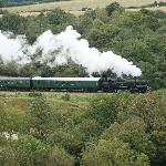 Steam Train view from Corfe Castle