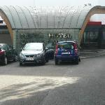 Front of hotel.