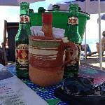 beer on the beach in Sayulita
