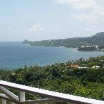 View of Sauteurs from Treetops deck