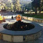 Fire Pit at the Ritz, this is where they roast marshmallows for smores!