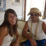io e il pazzo proprietario Piero (giuro mi ha accolto così!)