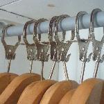 Coat hangers in the bedroom were rusted