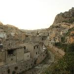 View over the town from road to Modica