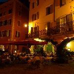 Osterial il Gallo in the evening