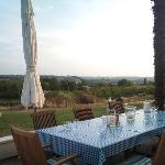 Outside dining with a view