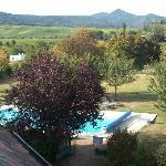 la piscine vue de mon balcon