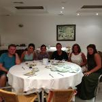 the last six of us at dinner
