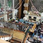 watching the bustle of the central arera in the Powerscourt Townhouse