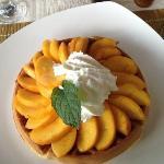 Scrumptious peach waffle!