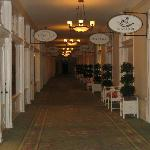 The hotel's shopping alley, beautiful gift stores, clothing, kids' items