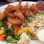 breaded shrimp lunch