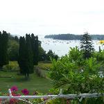 Sur la terrasse, vue sur la baie de Northeast Harbor