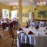 L'intérieur de la salle à manger