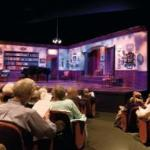 Our cozy 231-seat proscenium theater, where no seat is more than 30 feet from the stage.