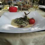 Main dish from lunch menu
