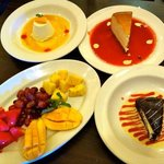 exotic dessert selection at italianni's in Manila