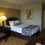 Double bed in upgraded Jr. Executive Suite