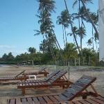 Parte da praia em frente ao resort