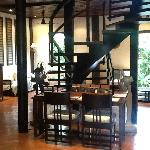 Lobby and staircase to our room