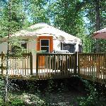 Exterior of Yurt.