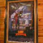 on the wall- another movie poster of a film shot around bass lake