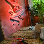 Apsara design in the resto