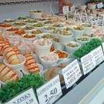 Fresh shellfish daily in our nice cold counter