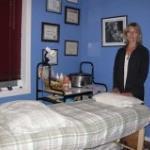 Marlene in her treatment room