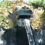 Dragon (barong) head above the kiddies pool