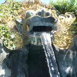 Dragon (barong) head above the kiddies pool