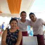 With the staff Kostas & Spyros (I promised to write a review & post your picture)