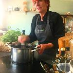 Ruth the owner, a hands on cooking demo or lesson
