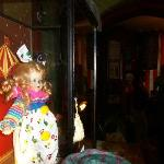 The haunted clown doll on display